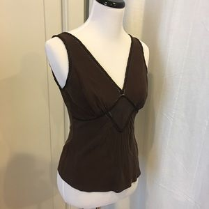 Ted Baker chocolate brown silk cami